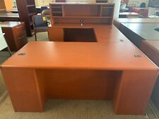 6 U Shape By Hon Office Furniture Cherry Color Wood