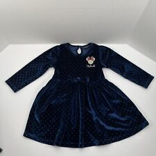 Minnie Mouse Blue Dress With Glitter Affect Disney Official 18-24 Months