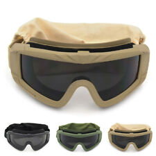 Tactical Goggles with 3 Interchangeable Lenses Outdoor Shooting Glasses Eyewear