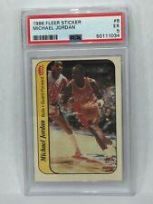 1986 Fleer Sticker #8 Michael Jordan ROOKIE RC PSA 5 BULLS MVP HOF GOAT NEW CASE