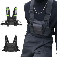 Men Reflective Waist Bag Adjustable Harness Chest Bag Tactical Vest Oxford Cloth