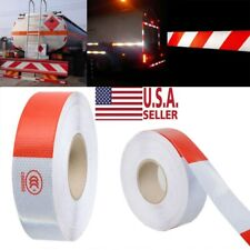 """New listing 2""""x150 Dot-C2 Premium Reflective Red and White Conspicuity Tape Trailer 1/2/3pcs"""