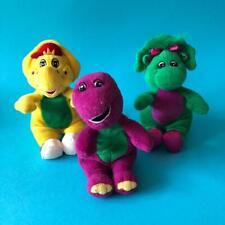 Vintage Barney The Purple Dinosaur BJ Baby Bop Beanie Plush Soft Toy Set 1990s