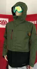 2020 NWT 686 Anthem Insulated Jacket Snowboard Mens L Large Green 10K a34