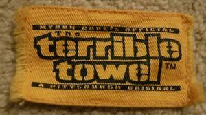 PITTSBURGH STEELERS MINI TERRIBLE TOWEL MINIATURE FRINGED TERRIBLE TOWEL