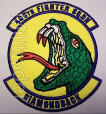 United States Air Force (USAF) 466th Fighter Squadron Patch (Diamondback)