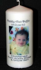 Cellini Candles Unique Baby Boy or Baby Girl Christening Unique personalised #1