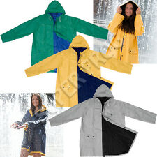 Bicolour Reversible Raincoat Waterproof Rain Coat PVC Jacket Rainproof Raincoats