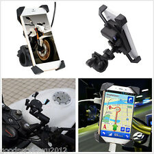 """Motorcycles 3.5-7.0"""" Phone GPS LED Mount Holder Bracket With 5V 1.8A USB Charger"""