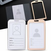 Metal Office School Work Card Holders ID Business Case Name Card Aluminum Alloy
