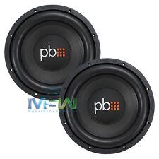 "(2) PowerBass S-1204D 12"" CAR STEREO SUBWOOFERS WOOFERS 4-OHM DVC S1204D *PAIR*"