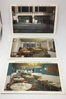 VTG 1950's Lot of 3 Postcards New York City Gloucester House Seafood Restaurant