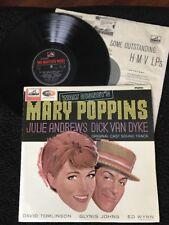 Walt Disney's Mary Poppins Original Cast Movie Soundtrack Vinyl LP HMV CLP 1794