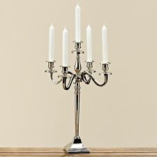 Noble 50cm Candle Holder Silver Nickel Plated 5-flammig Candleholder Candelabrum