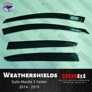 Weathershields Window Visors Tinted to suit Mazda 3 BM BN Sedan 2014 - 2019