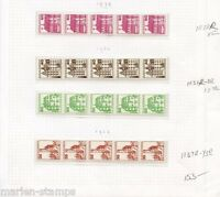GERMANY MICHEL# 1028R 1037-8R 1139-43R MINT NH NUMBERED COIL STRIPS AS SHOWN