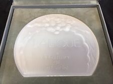 LALIQUE A CENTURY OF DESIGN COMEMMORATIVE PLAQUE W/ ORIGINAL BOX  CRYSTAL
