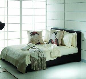 Natori Double Happiness Ivory Silk Queen Bed Skirt Bedskirt $270 NIP