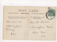 Miss M Newman Jerningham Road New Cross SE London 1903  161b