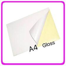 10x A4 Gloss Paper Self Adhesive Sticker Label Laser Printer Printing