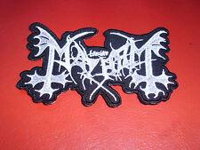 The True Mayhem Logo Patch Black Metal Marduk Morbid Dead Hellhammer