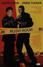JACKIE CHAN SIGNED RUSH HOUR 11X17 MOVIE POSTER PSA COA AD48077