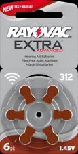 60 Rayovac extra Advanced Typ 312 EA Hörgerätebatterien Hearing Aid Battery
