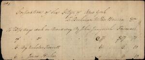 Rare 1808 New York City (NY) Company document bill for work on Broadway