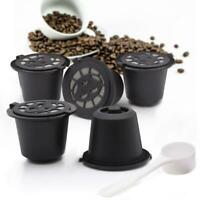 6pcs Stainless Steel Refillable Coffee Capsule Pod for Nespresso Mesh Filter Cup