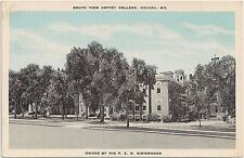 South View of Cottey College in Nevada MO Postcard