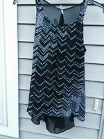 Maurices Tank Top Solid Polyester Black Clubwear XS Sleeveless Women's New