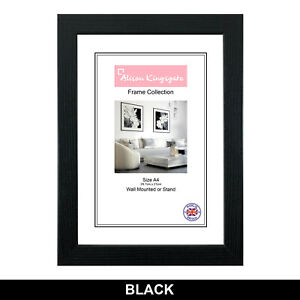 Black Photo Frames White Picture Poster Frame Modern WOOD EFFECT A1 A2 A3 A4 A5