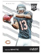 2015 Panini Clear Vision #104B KEVIN WHITE SP VARIATION (CATCHING BALL) RC!