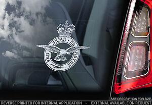 Royal Air Force - Car Window Sticker - RAF Eagle Crest Sign Logo Badge - V03