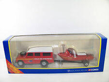 Corgi 60027 Land Rover & Remolque con bote de rescate Beach Patrol como nuevo en caja 2000