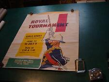 Original Vintage Poster: ROYAL TOURNAMENT earls court by H M FORCES cut bottom