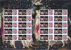 GB 2007 - Botticelli, Primavera -  Themed Smilers Stamp Sheet - TS-181