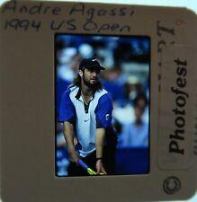 ANDRE AGASSI WON US FRENCH Australian OPEN Wimbledon HOF 2011 ORIGINAL SLIDE 17