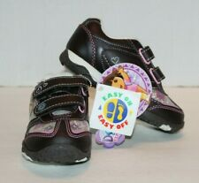 NWT Nick Jr. Dora the Explorer Brown Easy On Easy Off Sneakers Sz 8 Ships FREE!