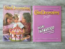 1983 Wilton Cake Decorating Yearbook and Wilton Yearbook Pattern Book