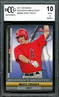 2011 Bowman Bowman's Brightest #BBR6 Mike Trout Rookie Card BGS BCCG 10 Mint+