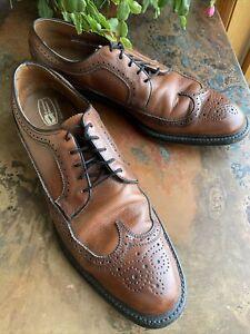 Vintage Men's Dress Shoes KNAPP Brogue Wingtip Brown Leather Sz.12 Original Box