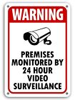 Warning 24 hour surveillance signs home security under surveillance cctv sign NW