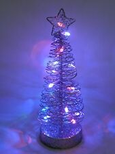 25cm Light Up Christmas Wire Tree Table Centre Decoration With LED Lights- Chris