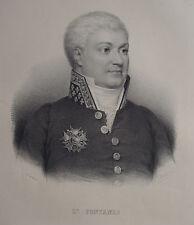 L. FONTANES , PORTRAIT, LITHOGRAPHIE 1840 DELPECH