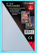 """5 Ultra Pro 4""""x6"""" TOPLOADERS NEW Photo Sports Card Collectible Rigid Postcard"""