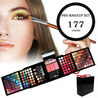 177 Color Eyeshadow Palette Blush Lip Gloss Makeup Cosmetic Set Kit Professional