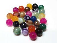 75 Achat Perlen Bunte 4mm Poliert Natur Streifen Edelsteine Achatstein G835#3