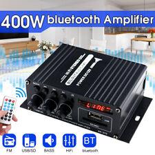220V 400W bluetooth HiFi Power Amplifier Mini Audio Digital Stereo FM AMP  UK