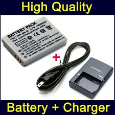 Battery & Charger for Canon PowerShot SX220 HS SX230 HS SD970 SD990 IS Digital
